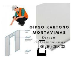 Gipso kartono montavimas Vilnius 860626833