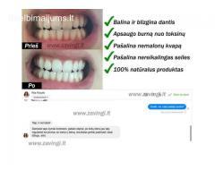 dantų balinimo pudra