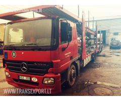Sunkiasvorio transporto ardymas ir naudotų transporto priemonių detalių pardavimas.