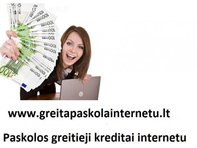 Paskolos be užstato. Greitos paskolos. Kreditai internetu.