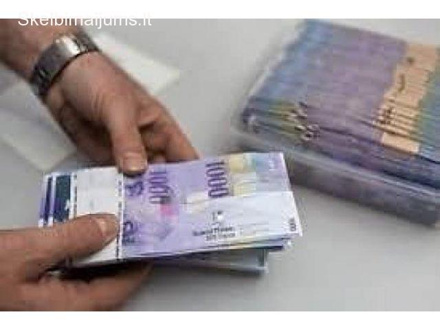 finansine parama kredito asmenines paskolos žmoniu finansinius sunkumus žemu